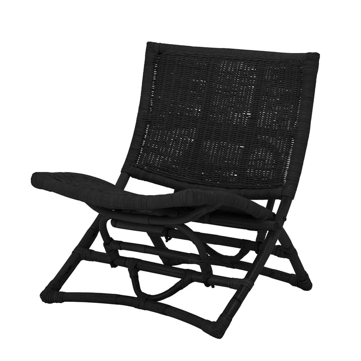 Baz Lounge Chair from Bloomingville in rattan black