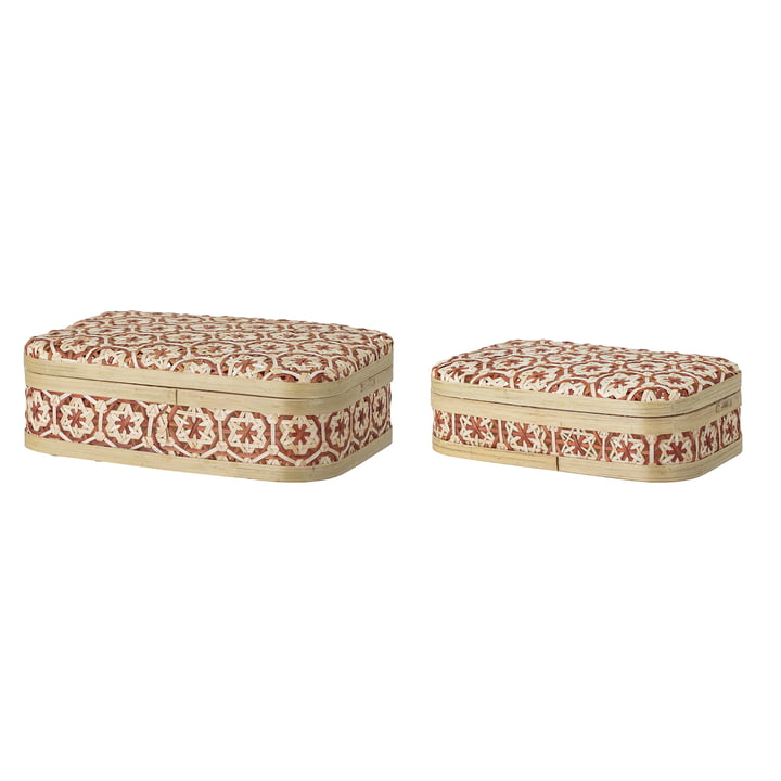 Bamboo storage set from Bloomingville in red (2 pcs.)