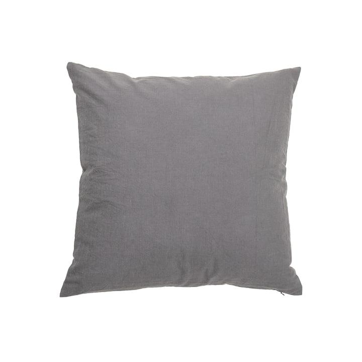 The cushion Velvet from Bloomingville in grey, 50 x 50 cm