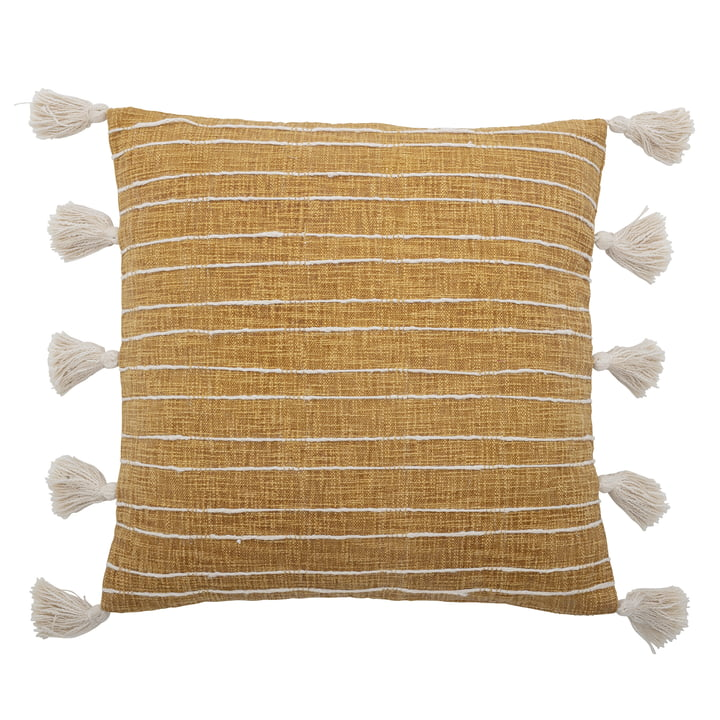 The Emely cushion from Bloomingville , 55 x 55 cm, yellow
