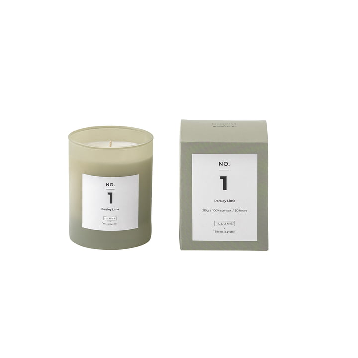 Bloomingville - ILLUME Scented Candle No. 1, Parsley Lime