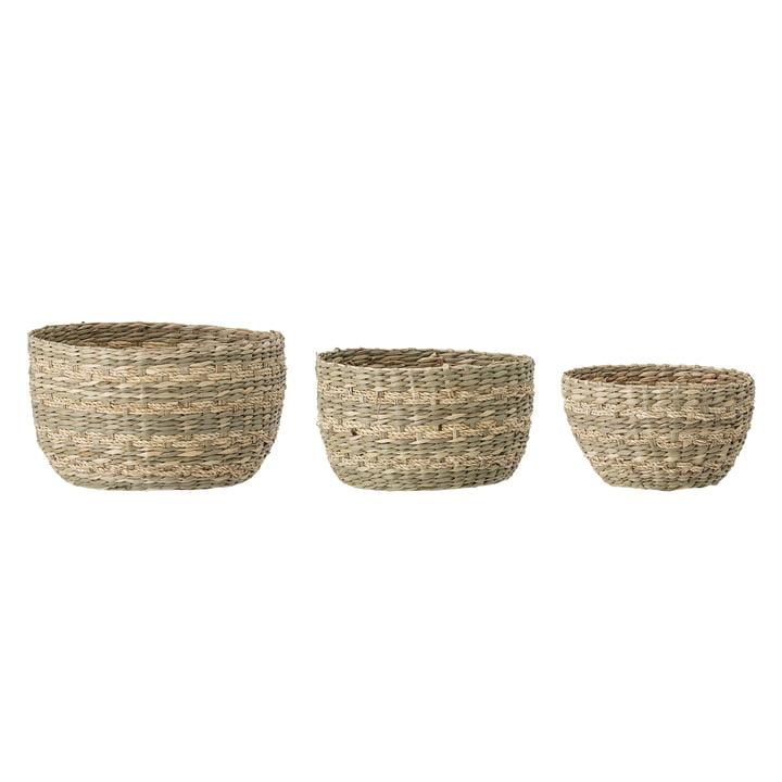 The Sasha basket set from Bloomingville , natural (set of 3)