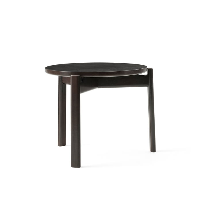 The Passage Lounge table from Menu in dark lacquered oak, Ø 50 cm