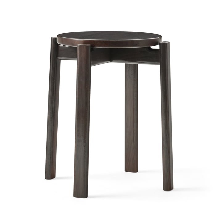 The Passage stool from Menu in dark lacquered oak