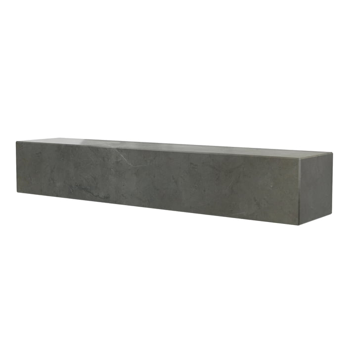 The Plinth shelf from Menu in marble brown / grey, L 60 cm