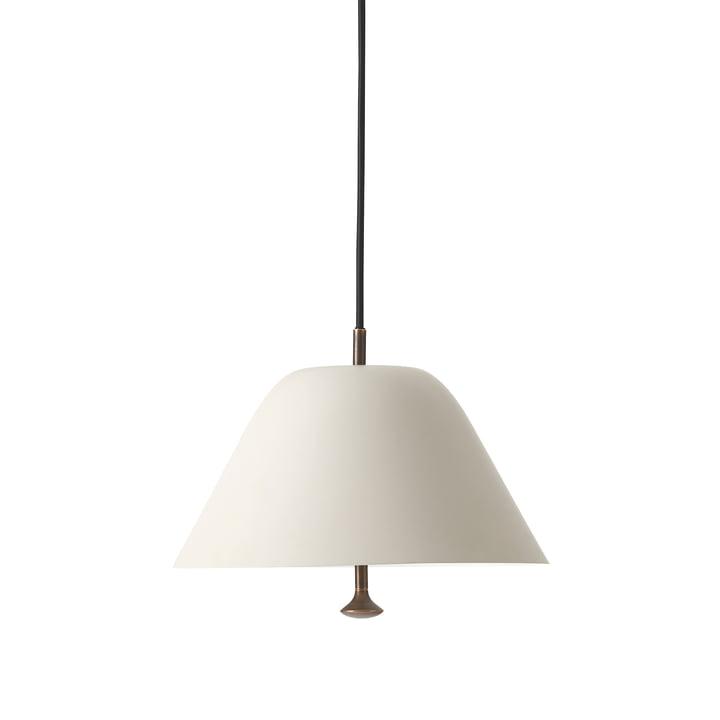 Levitate pendant lamp, Ø 28 cm, grey / brass by Menu