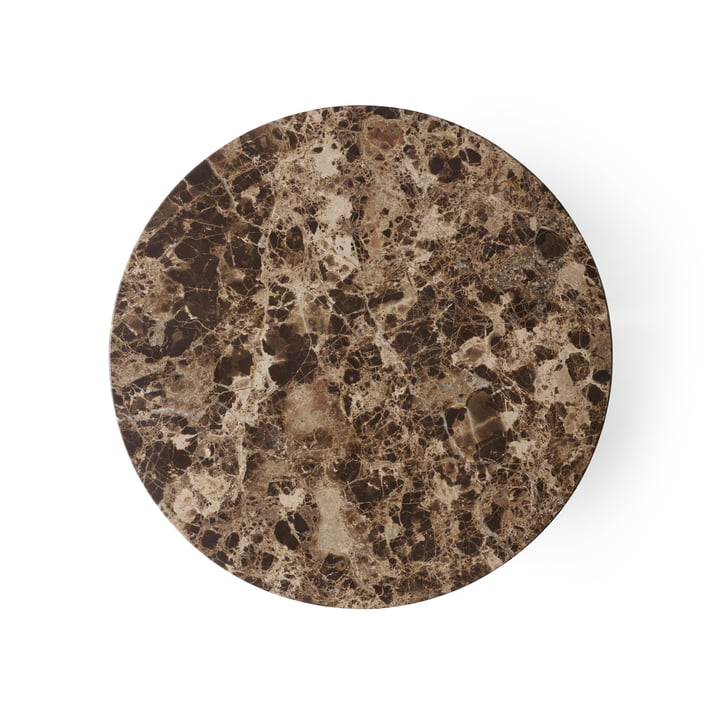 Menu - Table top for Androgyne side table Ø 42 cm, Emperador Dark Marble