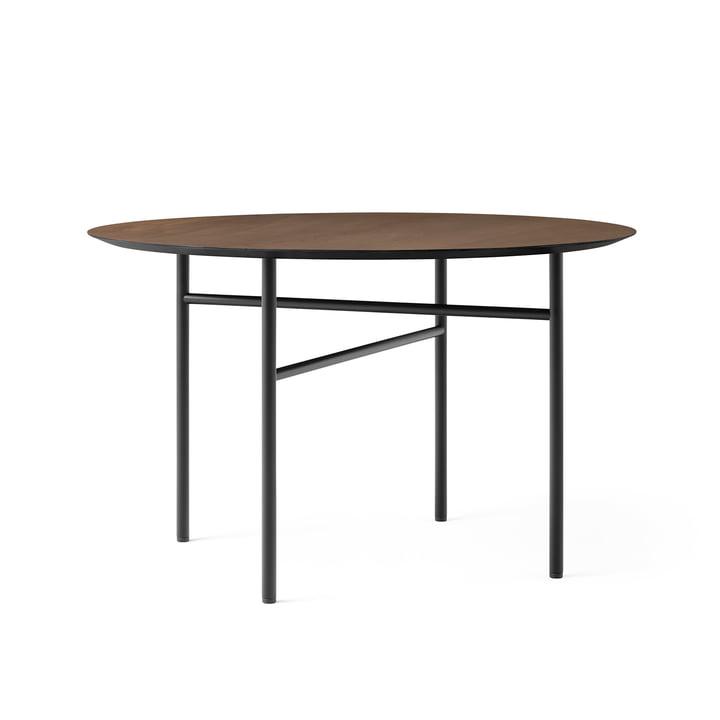 Snaregade Table, Ø 120 cm, oak veneer stained black (dark) from Menu