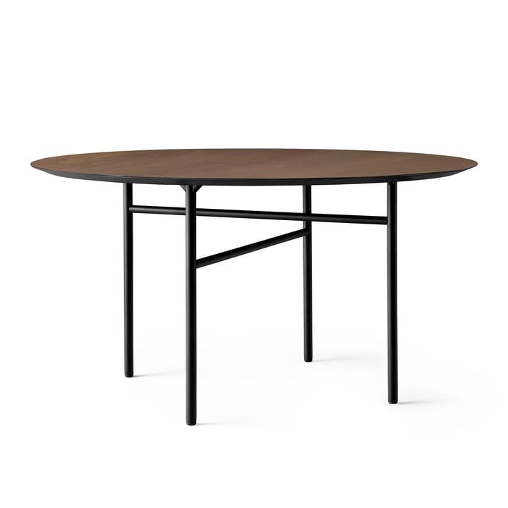 Snaregade Table, Ø 138 cm, oak veneer stained black (dark) from Menu