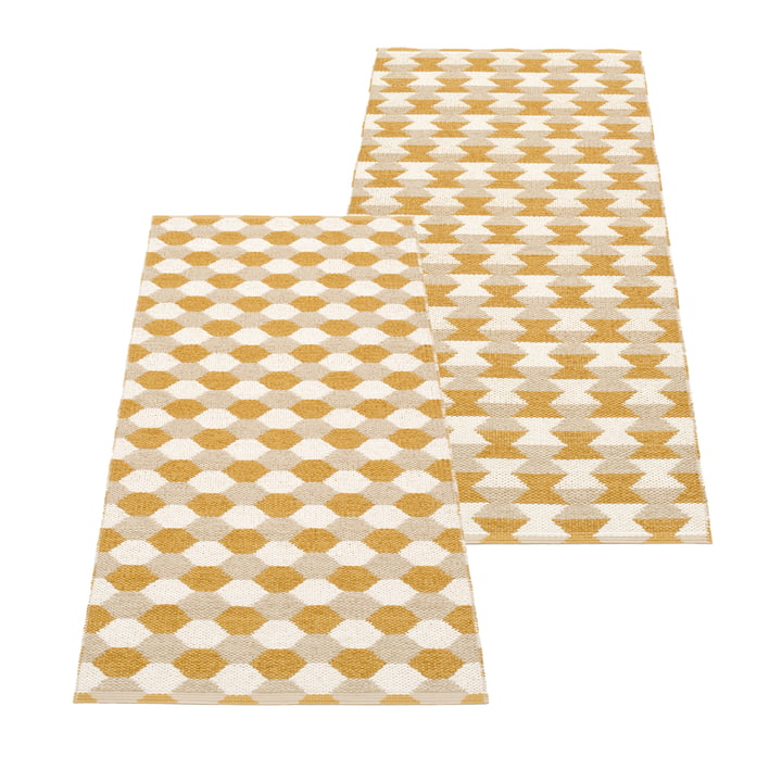 Dana Reversible rug, 70 x 160 cm, ochre from Pappelina