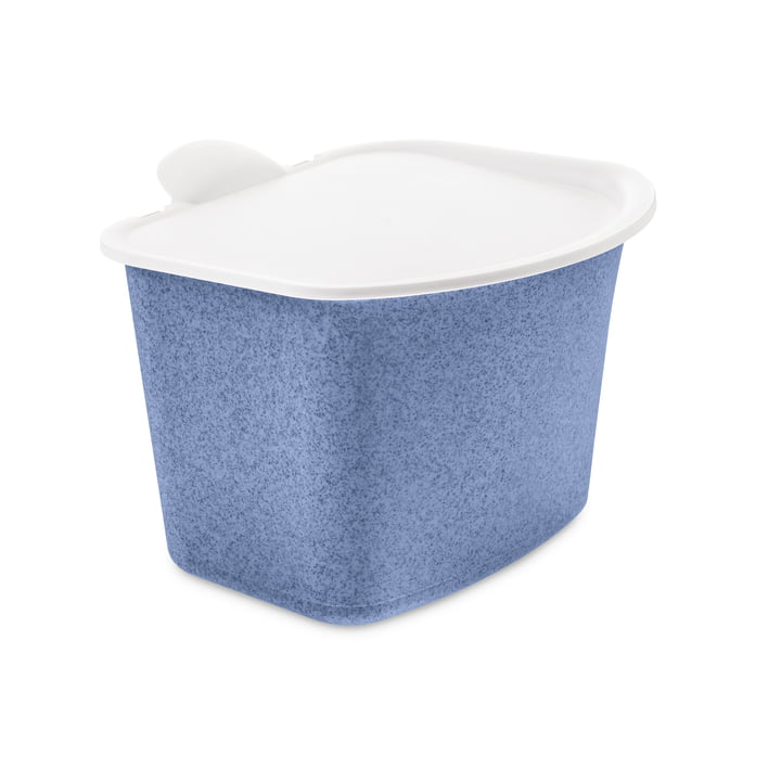 The BIBO Bio waste container from Koziol in organic blue