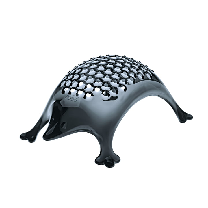 Kasimir cheese grater in transparent grey from Koziol
