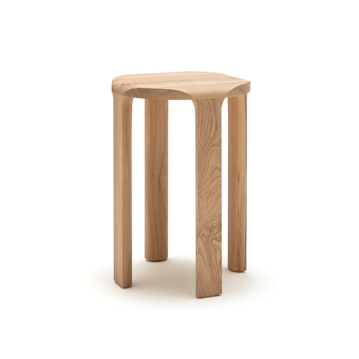 The 193-500 coffee table by freistil in natural ash, h 58 x Ø 40 cm
