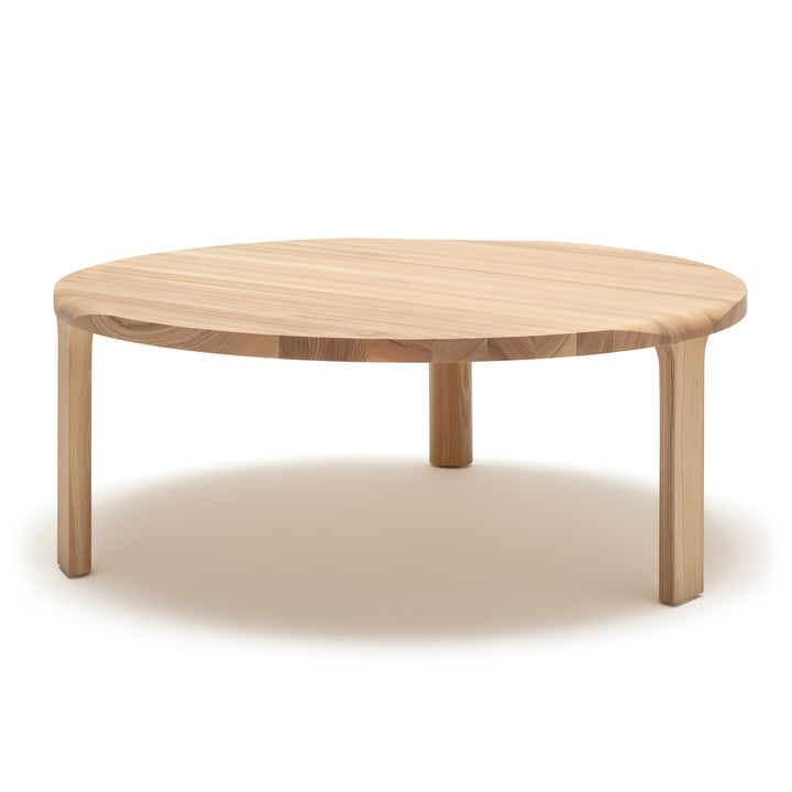The 193-400 coffee table by freistil in natural ash, H 38 x Ø 100 cm