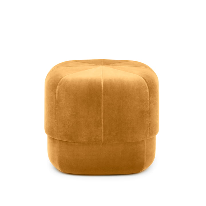 The Circus Pouf small from Normann Copenhagen , yellow velour
