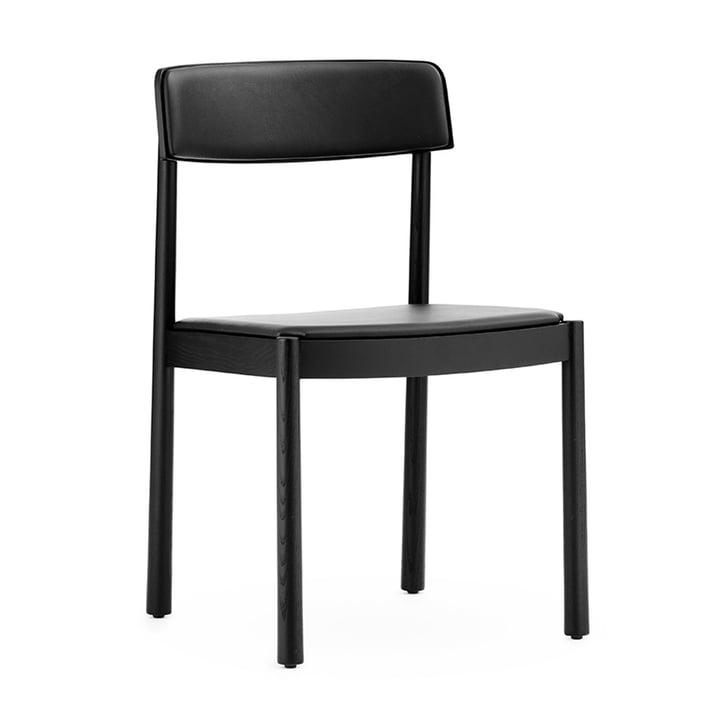 The Timb chair from Normann Copenhagen , upholstered, black / black