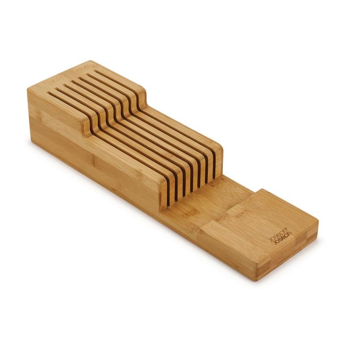 The DrawerStore Bamboo knife organizer from Joseph Joseph