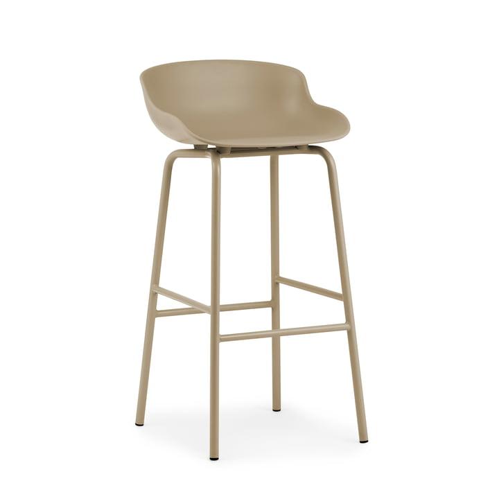 The Hyg bar stool from Normann Copenhagen , 75 cm, sand