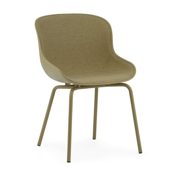 The Hyg Chair front pad from Normann Copenhagen in olive / Main Line Flax