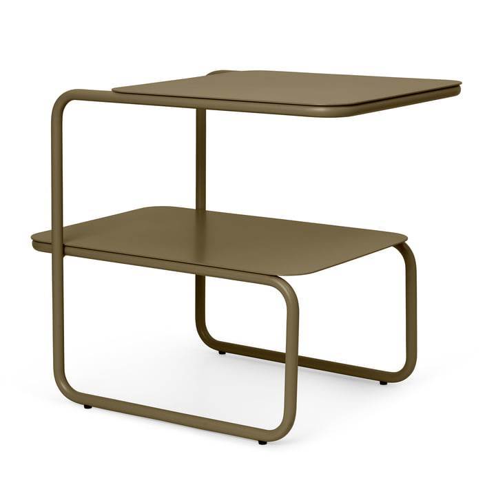 The Level side table by ferm Living in olive