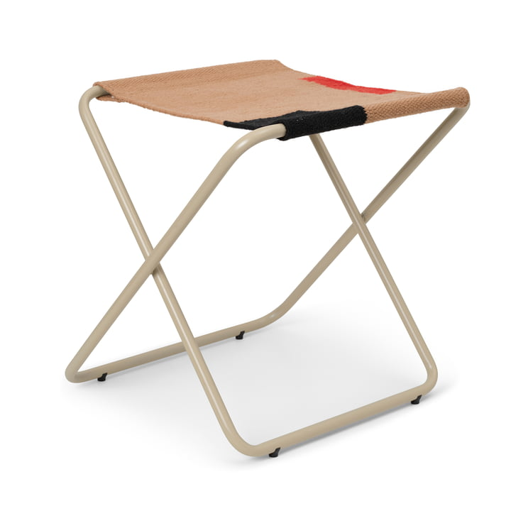 The Desert stool by ferm Living in cashmere / block