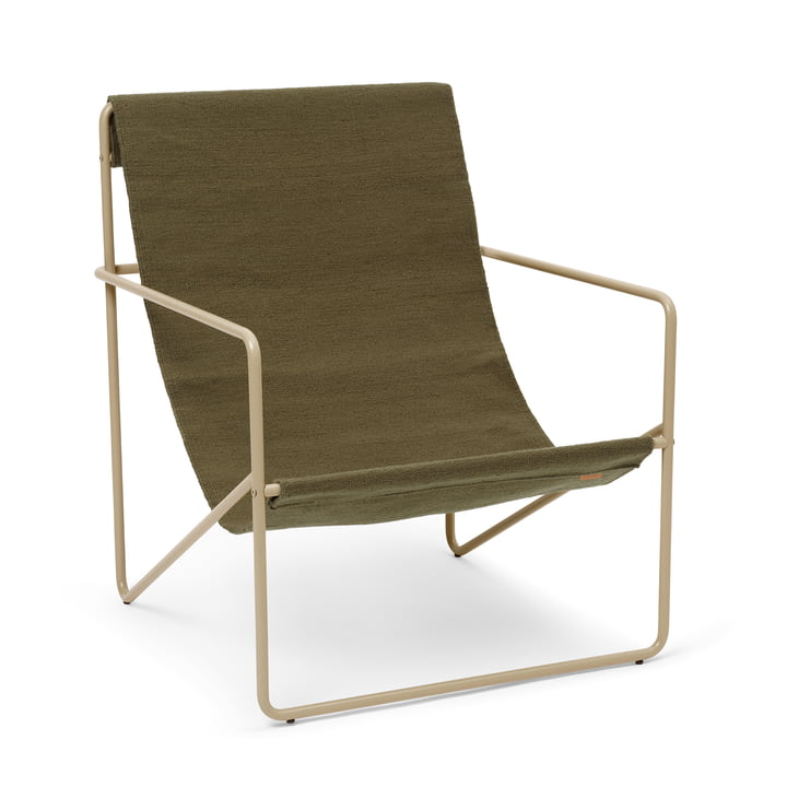 The Desert Lounge Chair from ferm Living in cashmere / olive