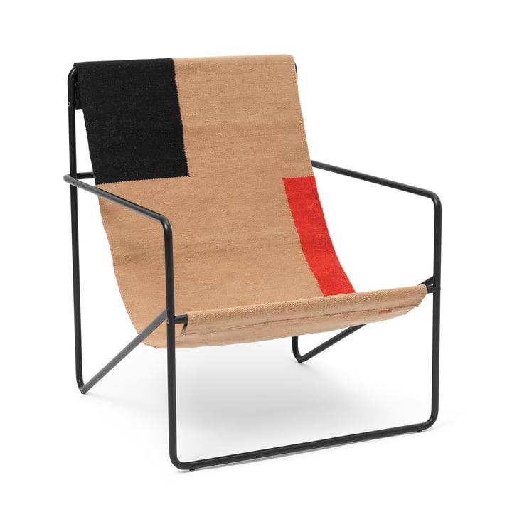 The Desert Lounge Chair from ferm Living in black / block