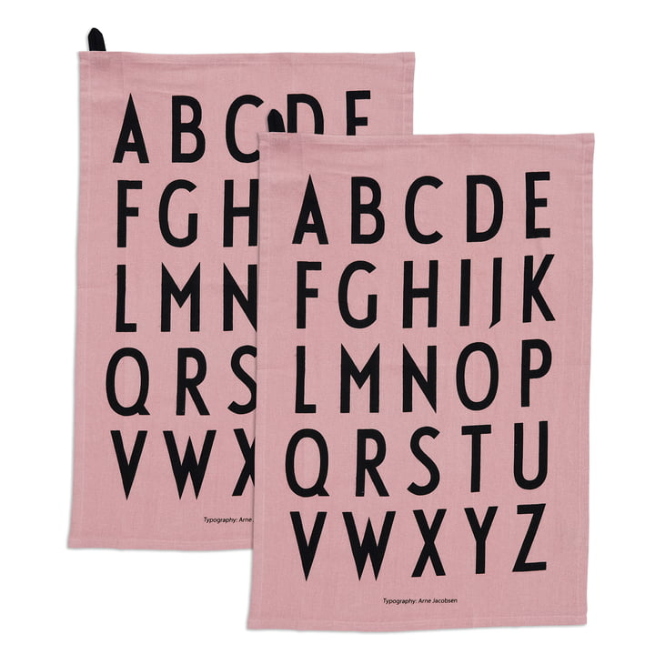The Classic tea towel from Design Letters in lavender (set of 2)