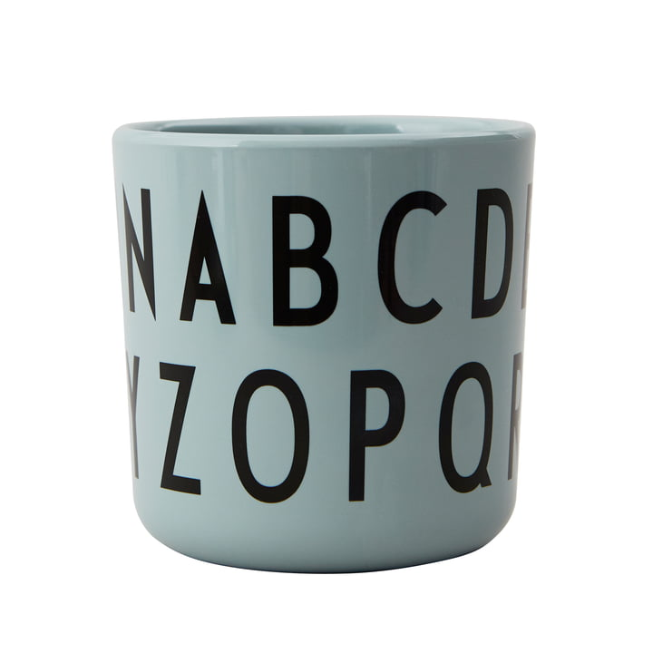 The ABC Eat & Learn Melamine mug from Design Letters in green
