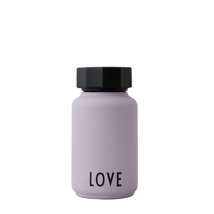 The AJ thermos flask Hot & Cold from Design Letters , Love / lavender (special edition)