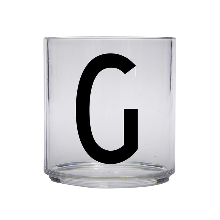 The AJ Kids Personal drinking glass from Design Letters , G