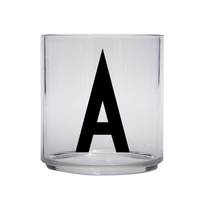 The AJ Kids Personal drinking glass, A by Design Letters