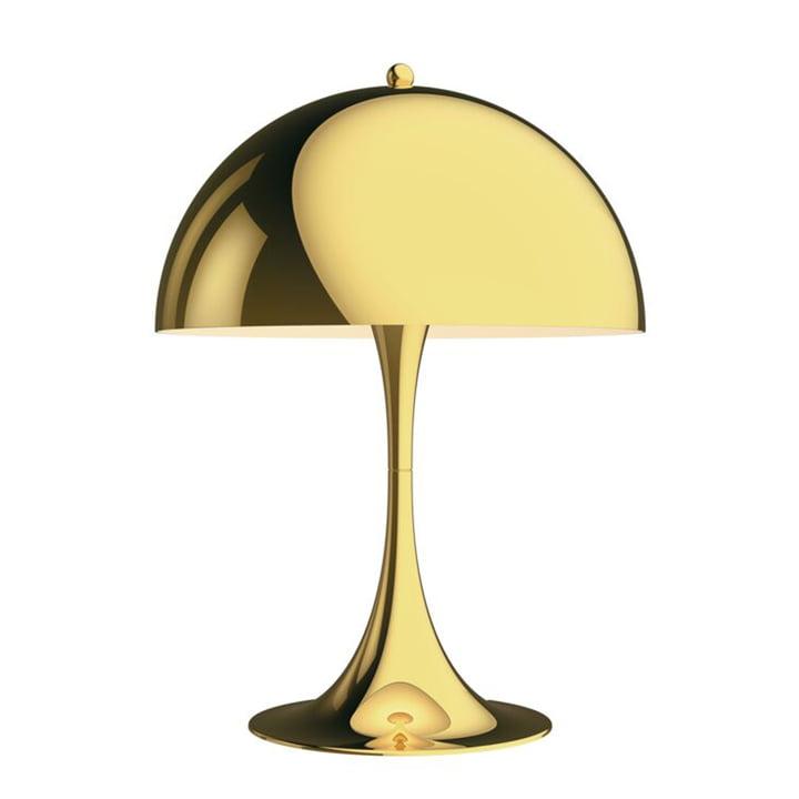 Panthella Table lamp 320, brass by Louis Poulsen