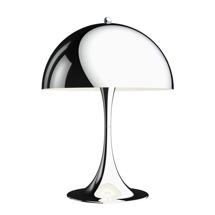 Panthella Table lamp 320, chrome by Louis Poulsen
