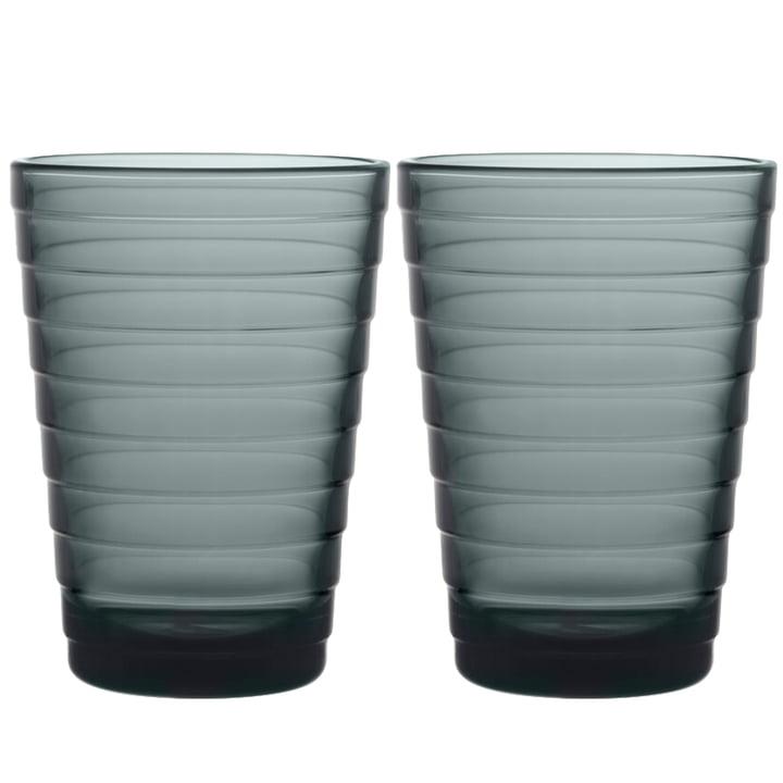 The Aino Aalto Longdrink glass from Iittala , 33 cl, dark grey (set of 2)