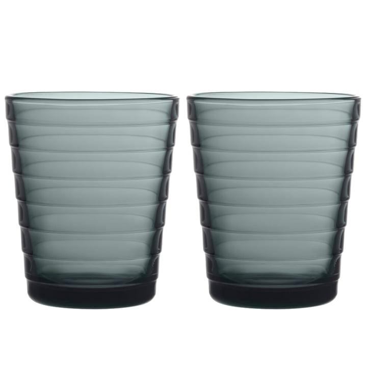 The Aino Aalto Glass tumbler from Iittala , 22 cl, dark grey (set of 2)