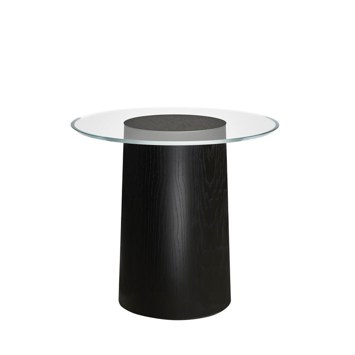 Stub Side table H 44,5 Ø 49 cm from Fritz Hansen in ash black