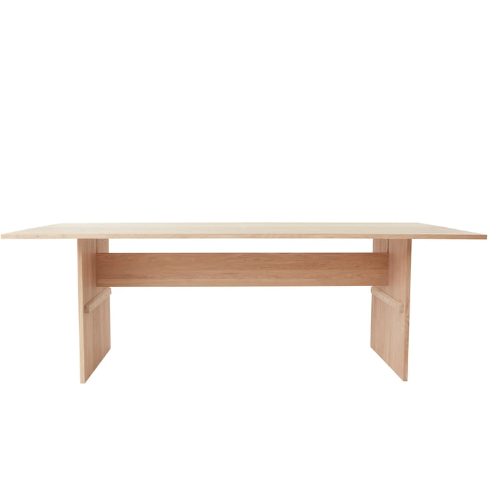 The Kotai table from OYOY , 220 x 100 cm, oak white pigmented