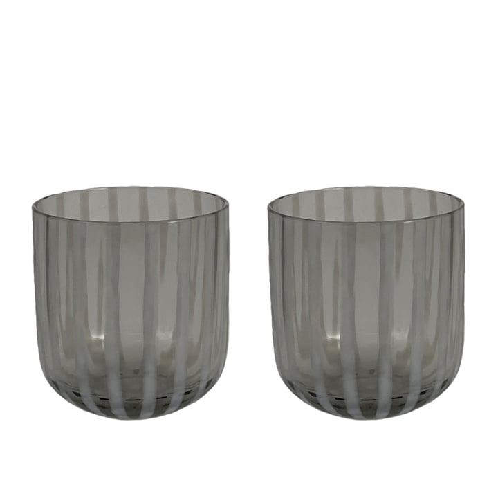 The Mizu drinking glass from OYOY , grey (set of 2)