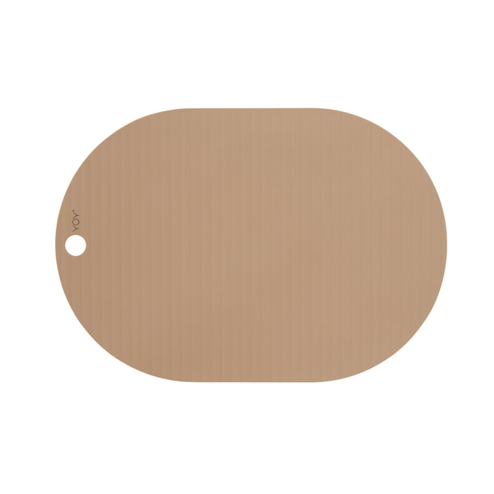 The Ribbo Oval placemat from OYOY , camel