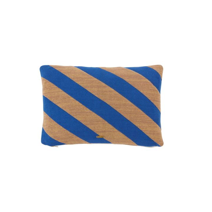 The Takara cushion from OYOY , 35 x 50 cm, optic blue / camel