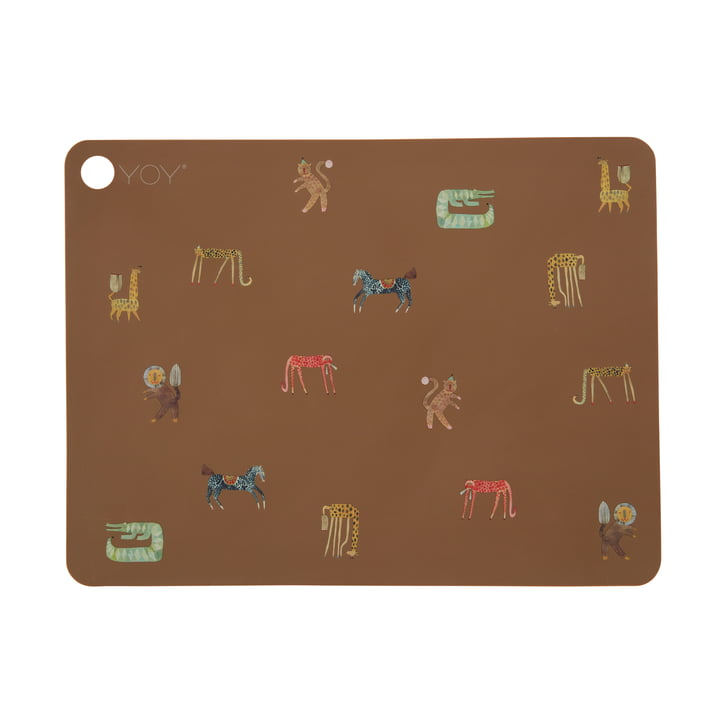 The Moira placemat from OYOY , dark camel / brown