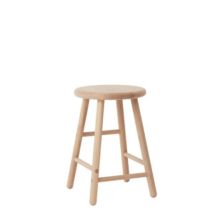 The Moto stool from OYOY , H 46 cm, oak