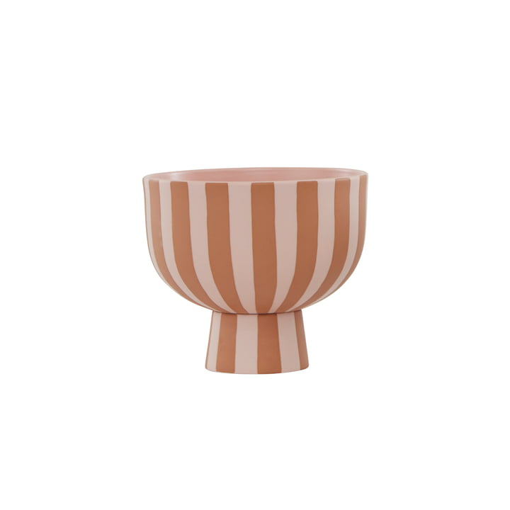 The Toppu bowl from OYOY , Ø 15 x H 13 cm, caramel / rose