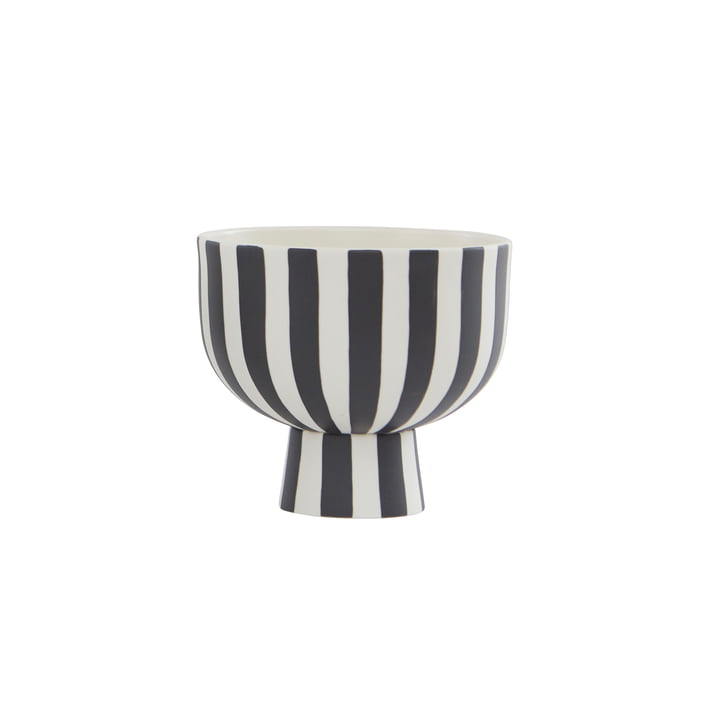 The Toppu bowl from OYOY , Ø 15 x H 13 cm, white / black
