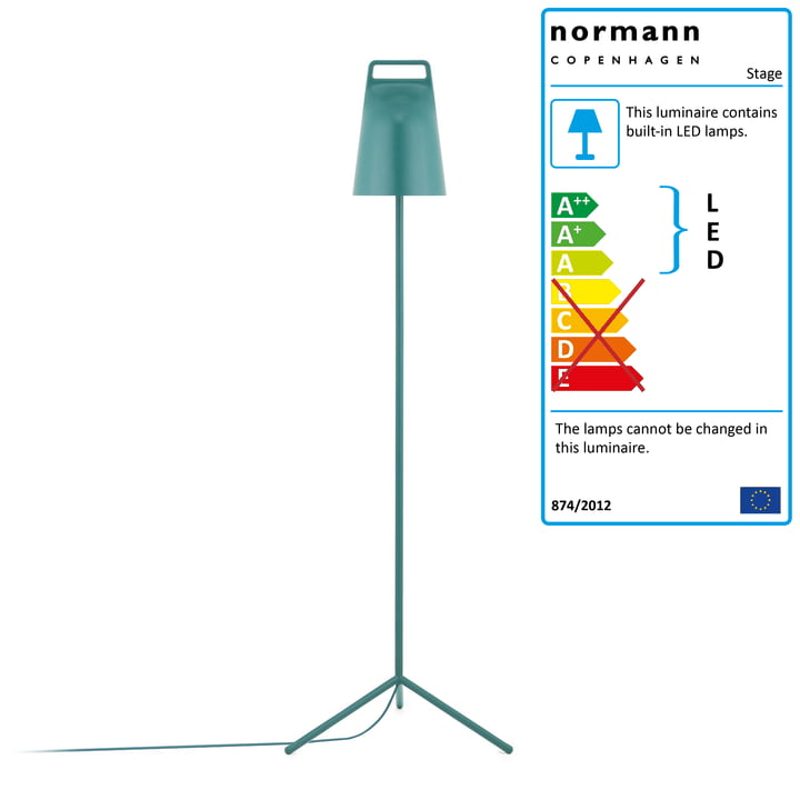 Stage Floor lamp from Normann Copenhagen in petrol green