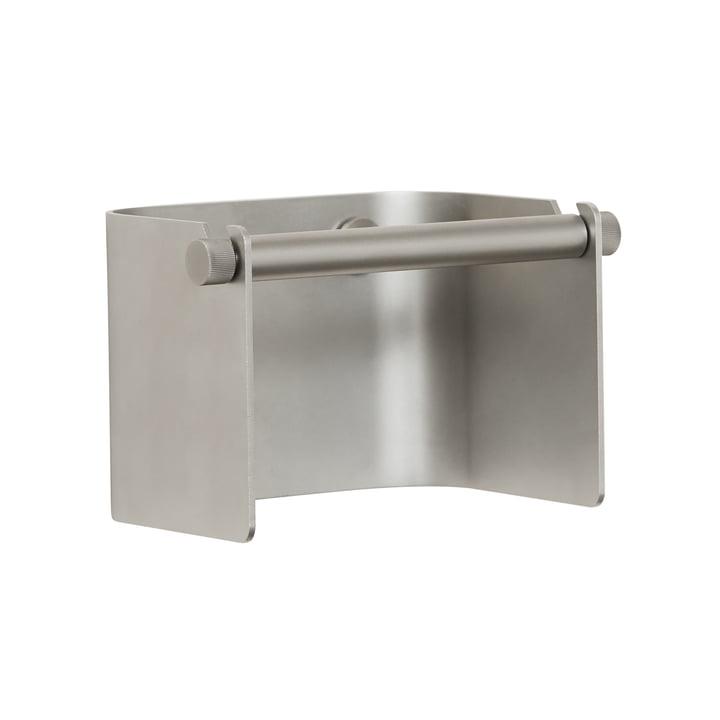 Arc Toilet paper holder, matt chrome from Form & Refine