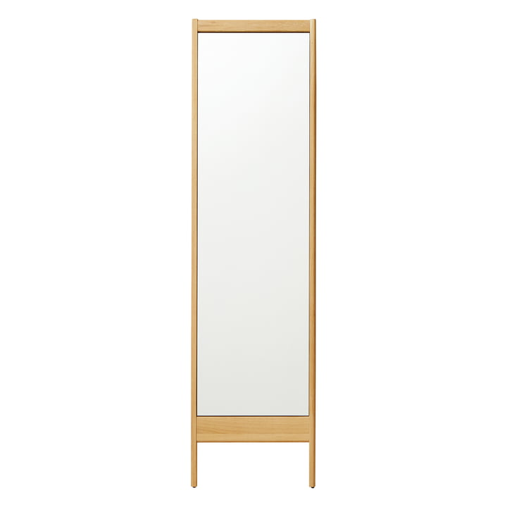 A Line Mirror, H 195,5 cm, oak from Form & Refine