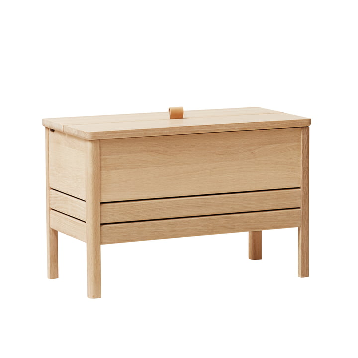 A Line Chest bench 68, oak white pigmented by Form & Refine