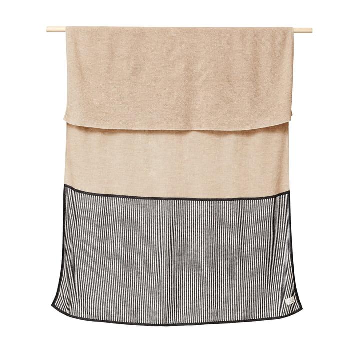 Aymara Blanket, 130 x 170 cm, rib light brown from Form & Refine
